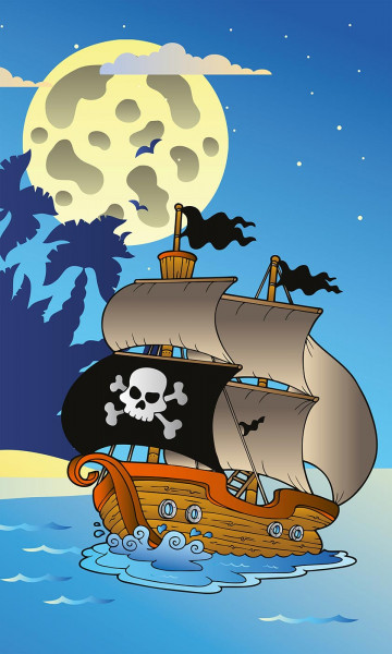 Vlies Fototapete Piratenschiff 150x250