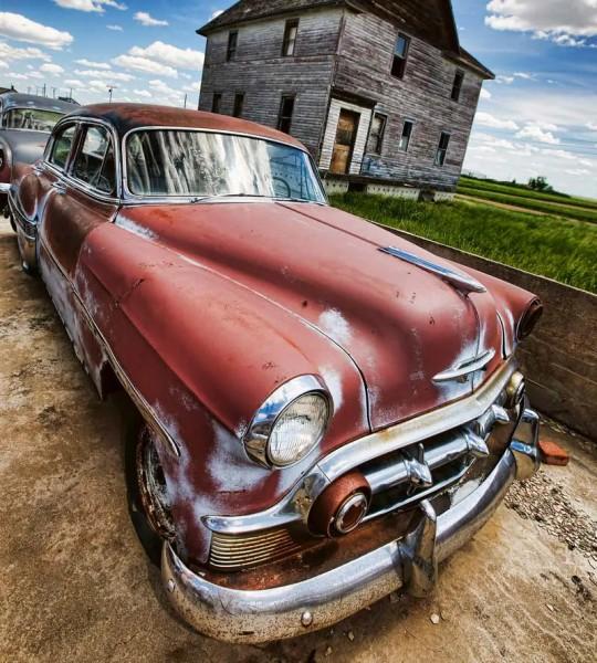 Vliestapete Oldtimer Auto 225x250