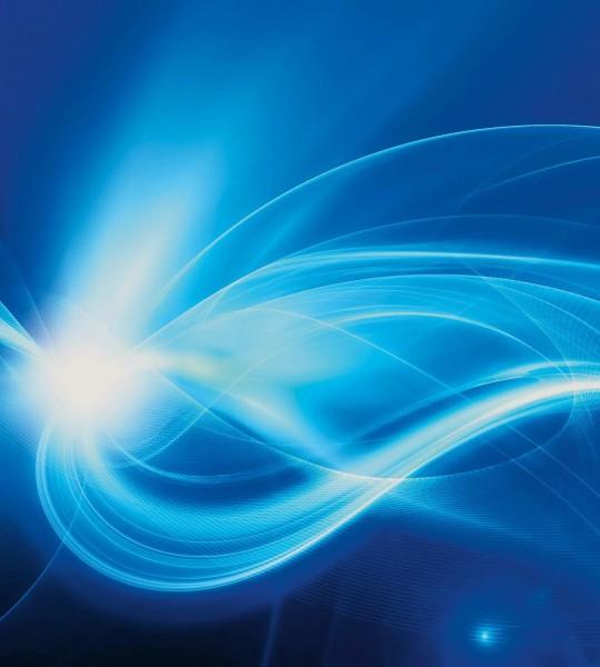 Vliestapete blaues Licht 225x250
