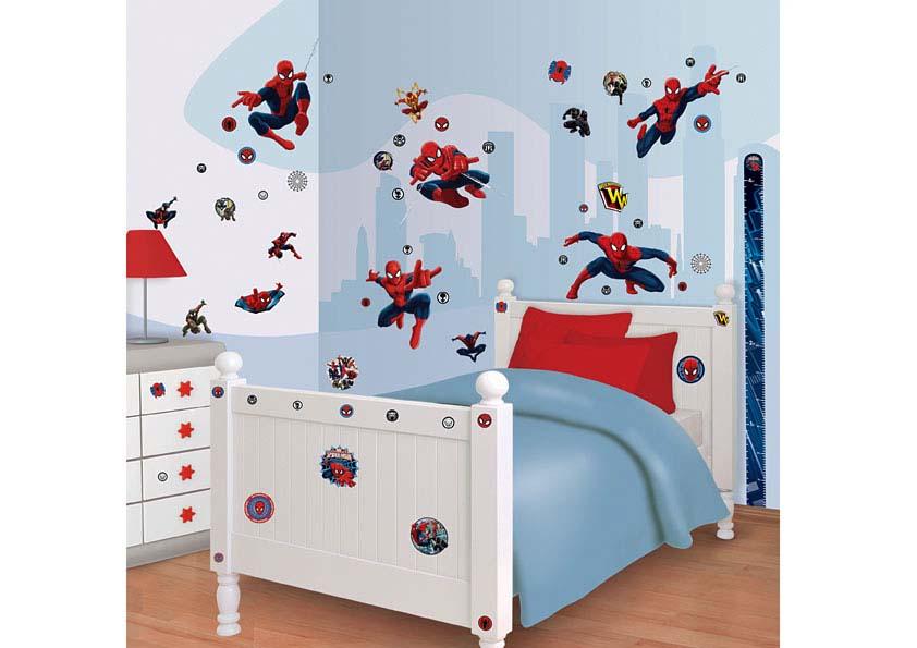 wandsticker kinderzimmer spiderman tapetenwelt. Black Bedroom Furniture Sets. Home Design Ideas