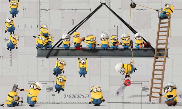 RoomMates Fototapete Minions Wandbild
