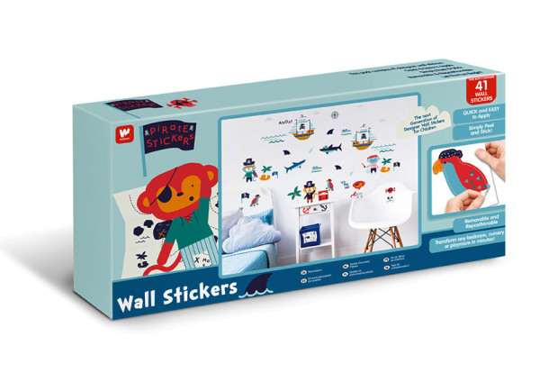 Walltastic Wandsticker Piraten Affen Geschenkekoffer