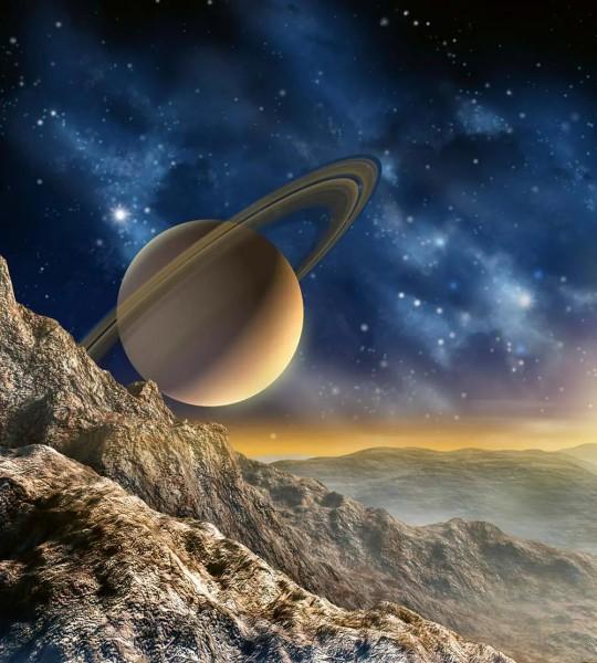 Vliestapete Saturn mit Ringen 225x250