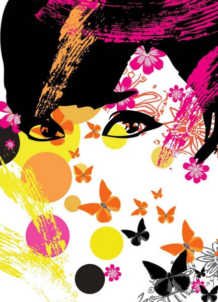 Fototapete Wandbild Blumenmädchen