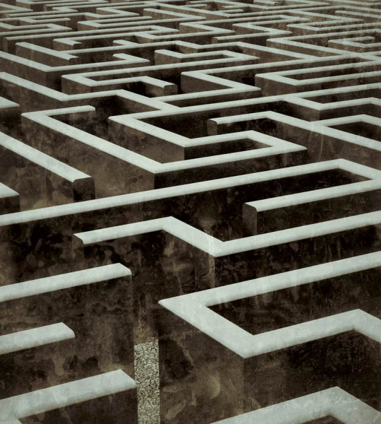 Vliestapete Labyrinth 225x250
