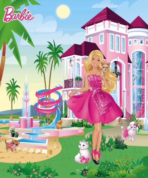 Fototapete Barbie Pink Palast Walltastic