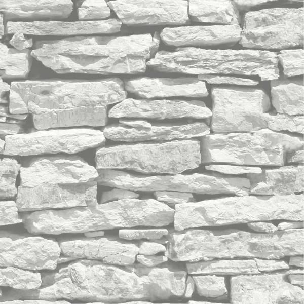 Tapete marokkanische Mauer weiß grauer Schiefer