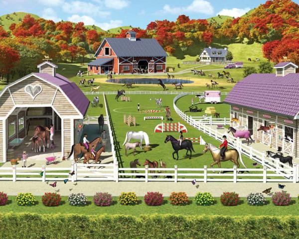Walltastic Fototapete Pferde Reiten Ponyhof