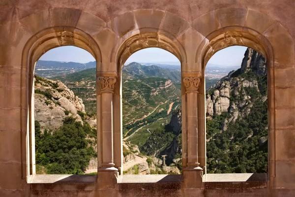 Vliestapete Bogenfenster 375x250