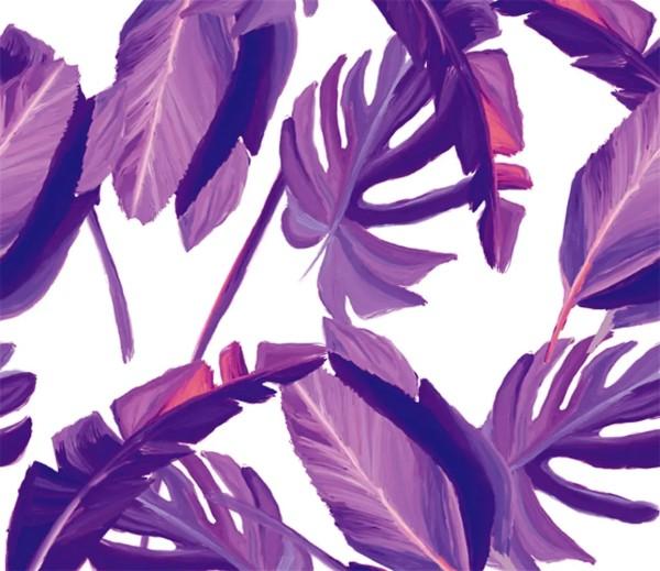 Vliestapete 3D-Optik Tropical lila