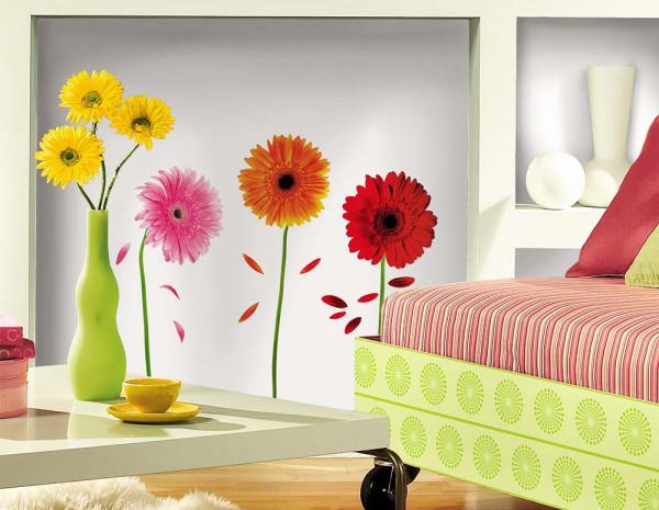 Wandsticker Gerbera Blüten Wohnzimmer