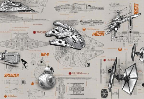 Fototapete Star Wars Baupläne