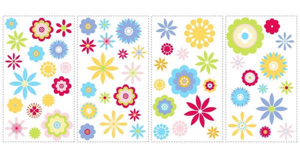 Wandsticker Grafik Blüten