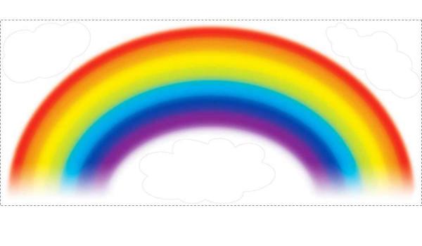 wandsticker regenbogen am himmel  tapetenwelt