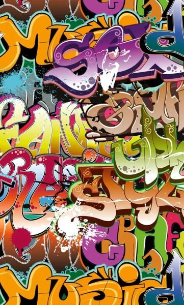Vlies Fototapete Graffiti 150x250