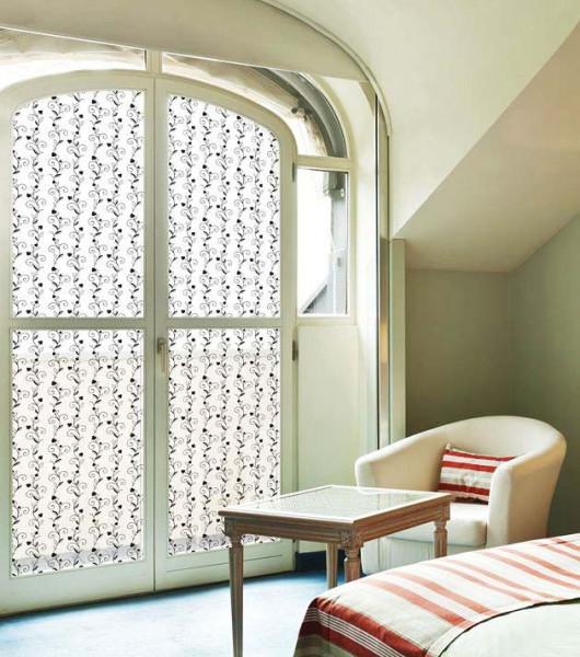 Fensterfolie selbstklebend Weinranken Wohnzimmer