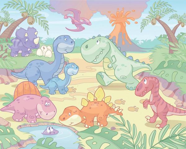 Fototapete Babyzimmer Baby Dinosaurier