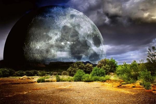 Vliestapete Mondfinsternis 375x250