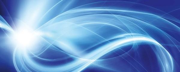 Panorama Vliestapete blaues Licht 375x150