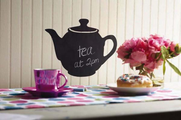 Wandsticker Kreidetafel Teekanne Küche