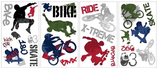Wandsticker Extremsport Skate Bike BMX