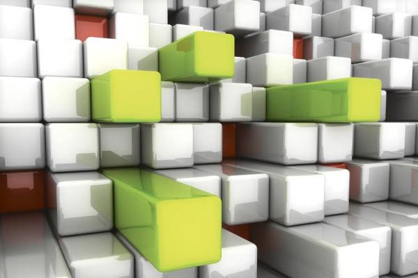 Vliestapete 3D Tetris 375x250
