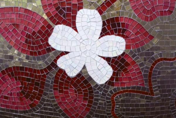 Vliestapete rotes Mosaik 375x250