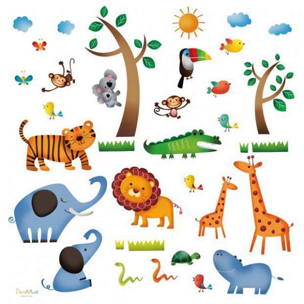 Wandsticker Dschungeltiere Safari