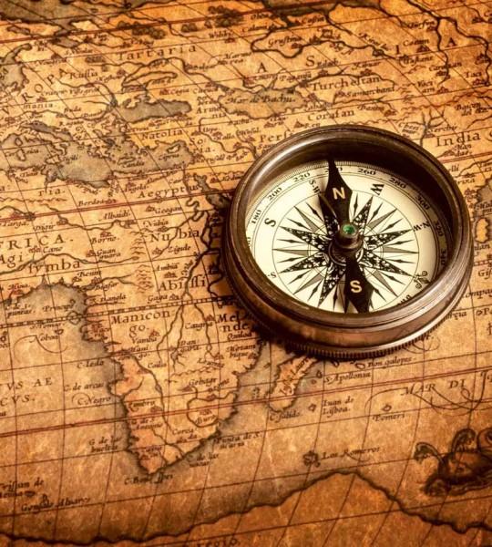 Vliestapete Kompass 225x250