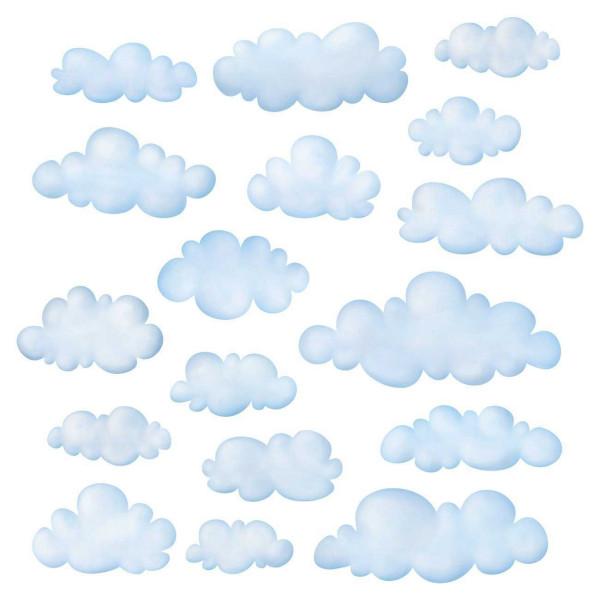 Wandsticker Wolken am Himmel klein