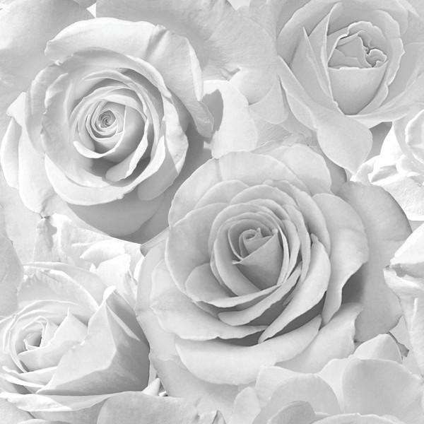Tapete Madison Rose Glitter grau silber