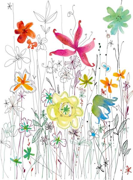 Vliestapete Fototapete Flora Blumen Blüten