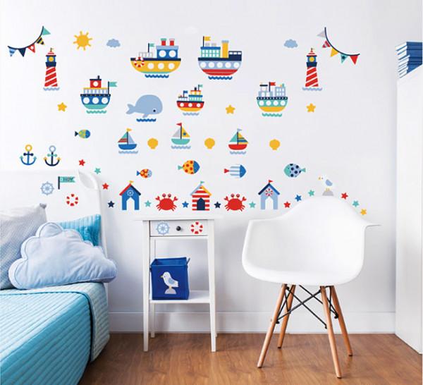 Walltastic Wandsticker Schiffe Leuchtturm Kinderzimmer