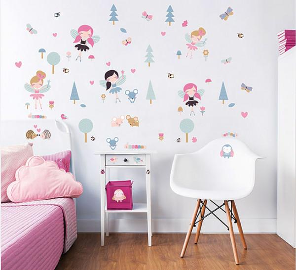Walltastic Wandsticker Waldfeen Elfen Mädchenzimmer
