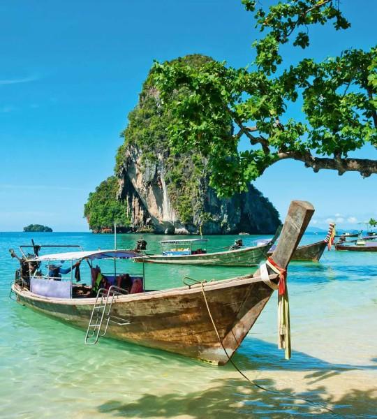 Vliestapete Boot in Thailand 225x250