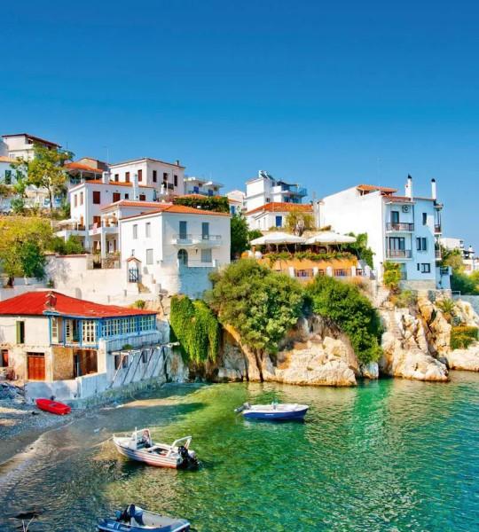 Vliestapete griechische Mittelmeerküste 225x250
