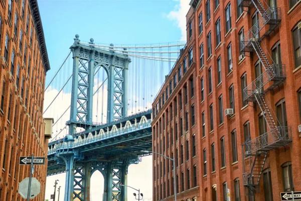 Vliestapete Brücke in Manhattan 375x250