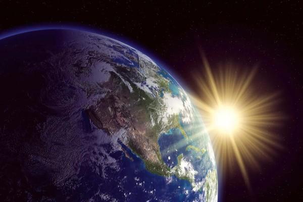 Vliestapete Weltraum Erde 375x250