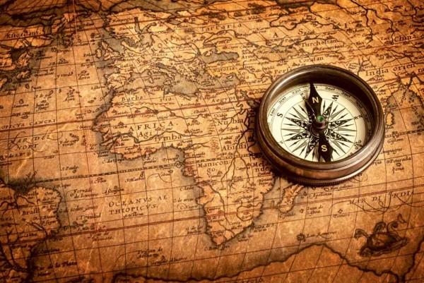 Vliestapete Kompass 375x250