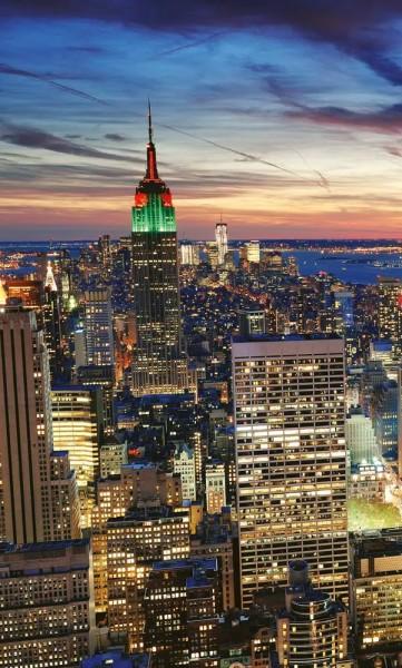 Vlies Fototapete New York Wolkenkratzer 150x250