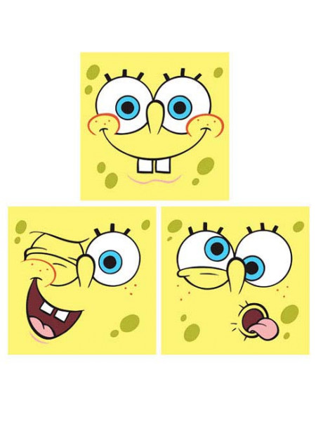Wandsticker Spongebob Schwammkopf Quadrate