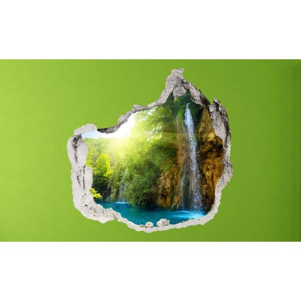 Wandsticker 3D-Optik blaue Lagune Breakthrough