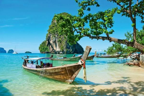 Vliestapete Boot in Thailand 375x250