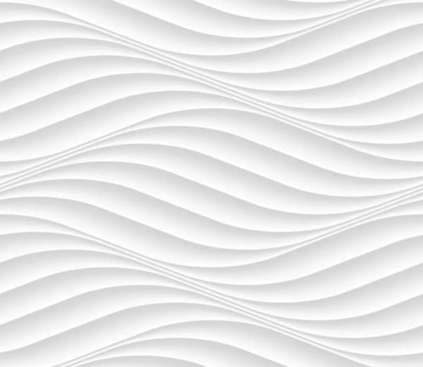 Vliestapete 3D-Optik Wellen weiß