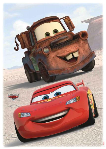 Wandsticker Disney Cars Lightning McQueen Abschleppwagen Mater