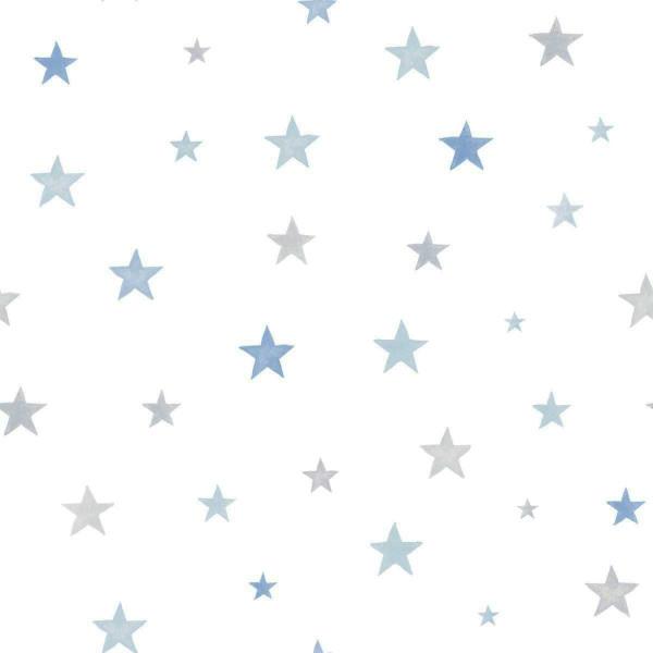Vlies Ökotapete Sterne blau