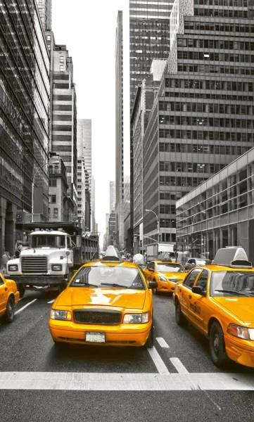 Vlies Fototapete Yellow Taxi 150x250