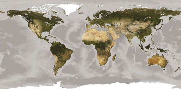 Vlies Fototapete Weltkarte