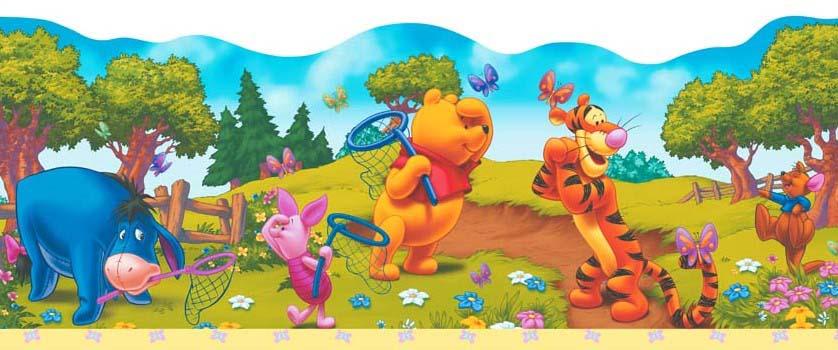 Kinderzimmer Bordüre Winnie Pooh