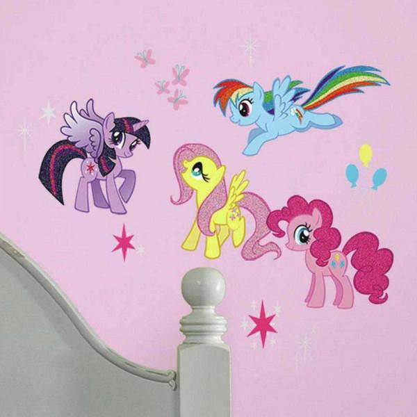 Wandsticker My little Pony mit Glitter